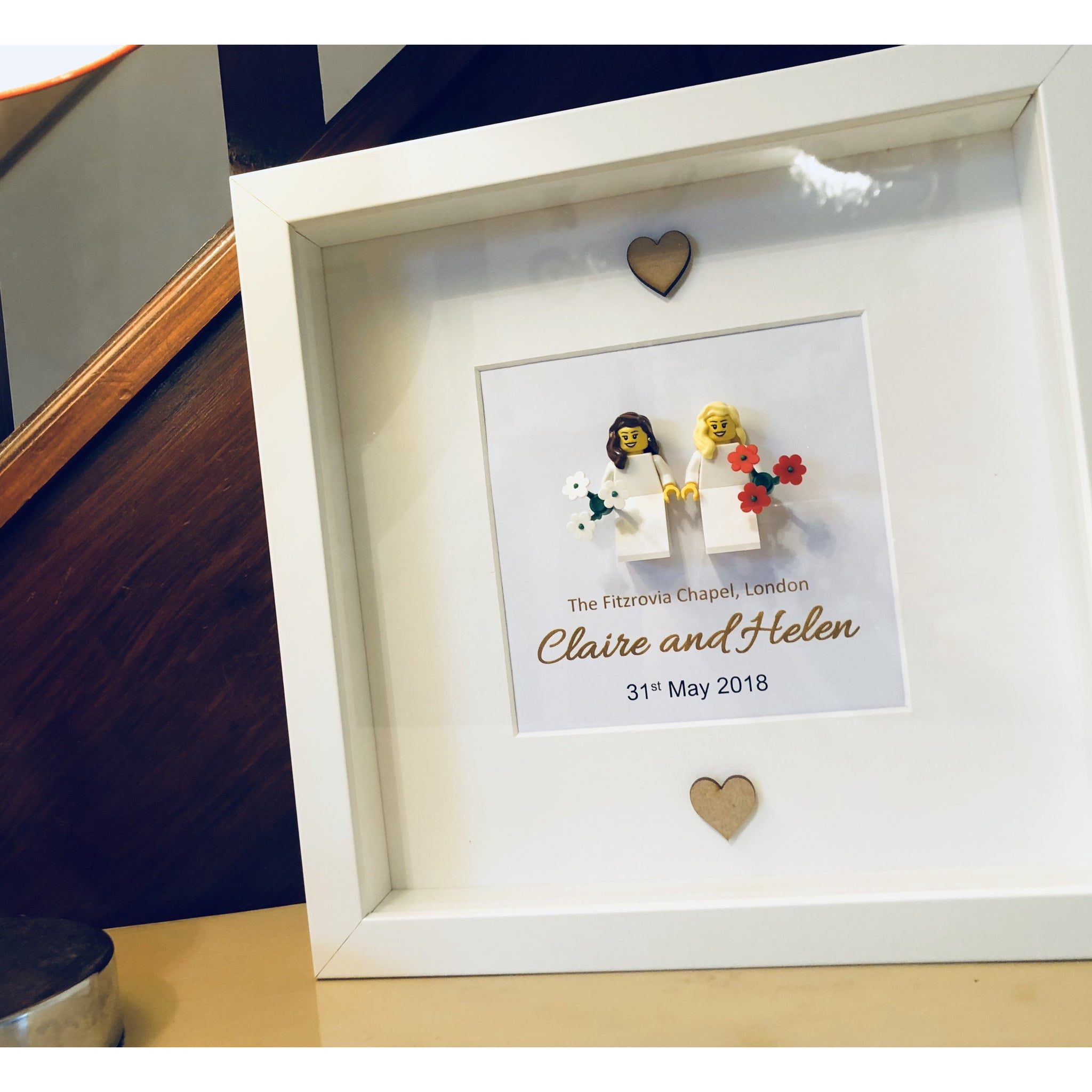 Gay Wedding Gift Female Lego Frame Mybrickbox