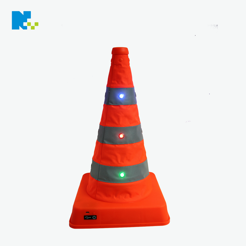 LED Light Collapsible Traffic Cone