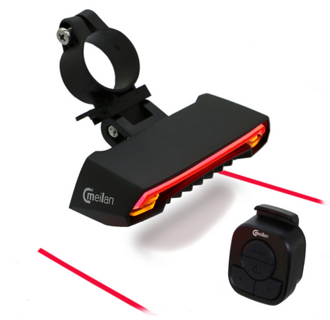 X5 Wireless Bike Blinker with Laser Distance Light