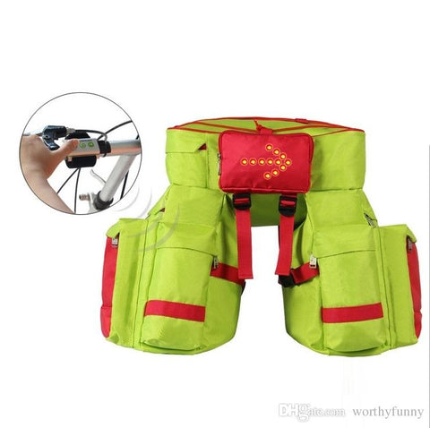 BSE Bicycle Safety Saddle Bag with Blinker