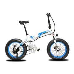 X2000 Plus Updated 500W 48V 10AH 7 Speeds Spoke Folding Electric Bike
