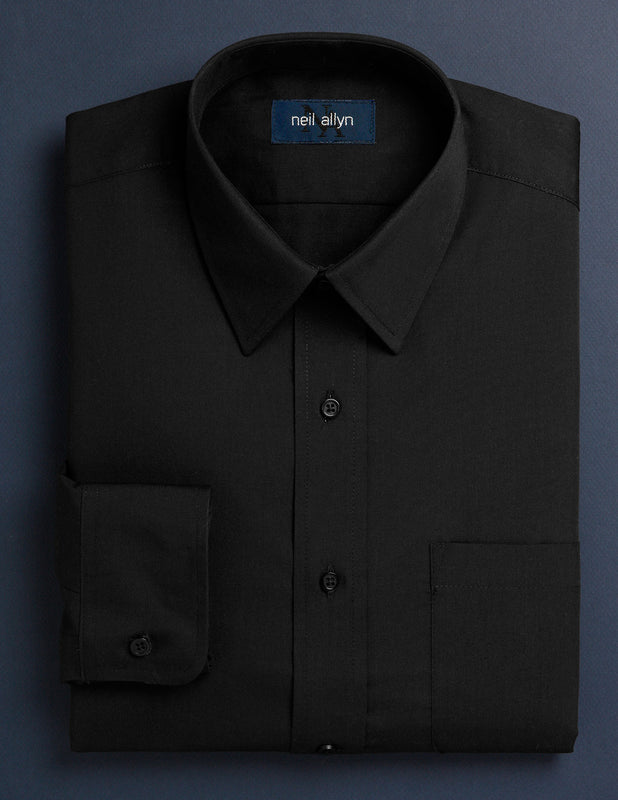 Women's Black Button Down Dress Shirt - Caterwear.com