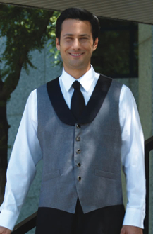 Grey with Black Collar Vest - Caterwear.com