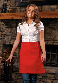 High Quality - Half-Bistro Apron w/Center Divided Pocket - Caterwear.com