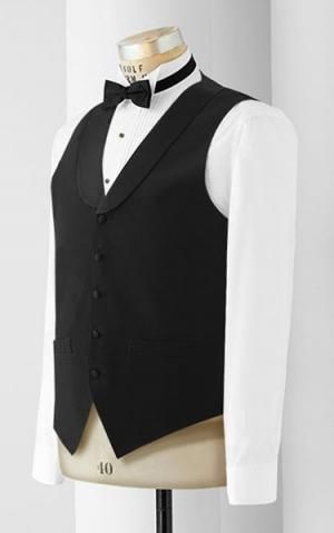 Men's 5 Button Satin Lapel Vest