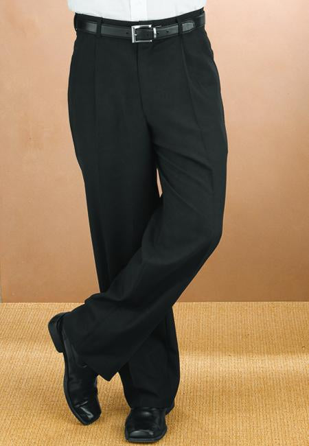 Men's Black Pleated Pants
