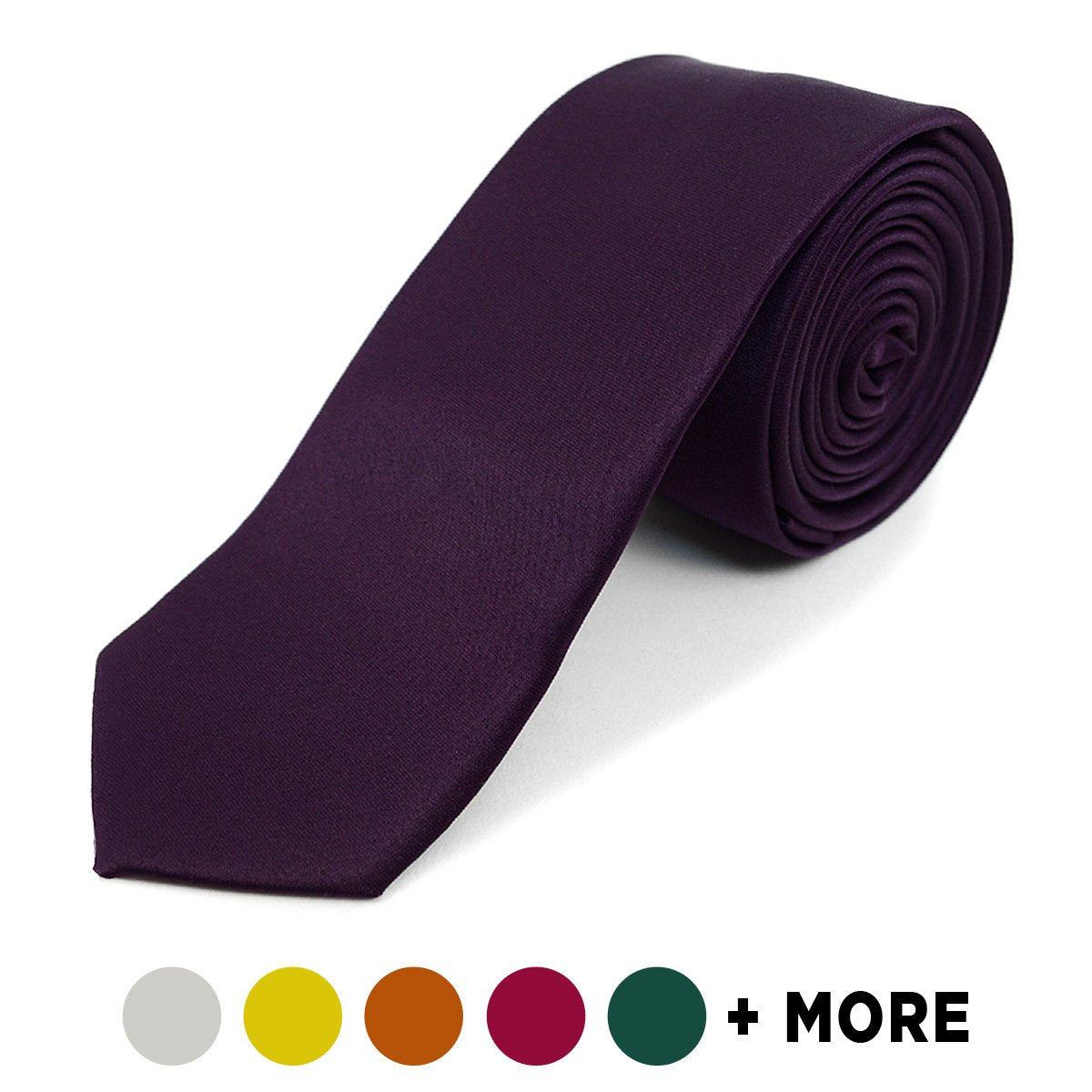 "Poly Solid 2"" Slim Tie PPS2501 - Caterwear.com"