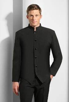 Six Button Steward's Shirt Jacket in White or Black - Caterwear.com