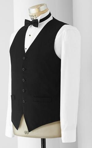 Women's 5 Button Vest - No Lapel - Unisex - Caterwear.com