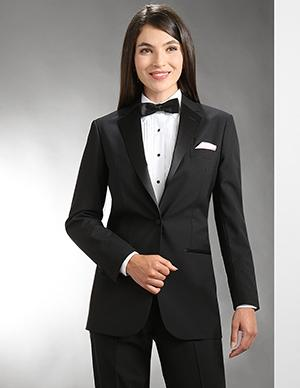 Women's One Button Tuxedo Jacket - Caterwear.com