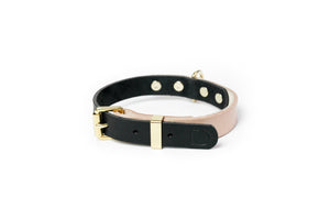 Dog Collar 2 Tone Natural / Black