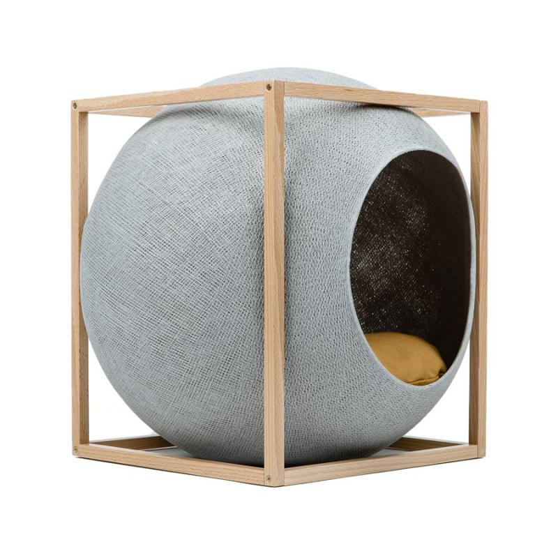 Cat Bed Le Cube Wood