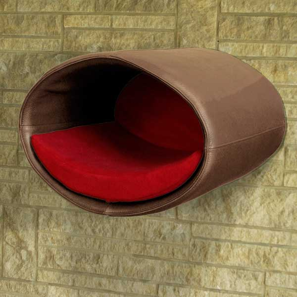 Cat Bed Rondo Wall leather