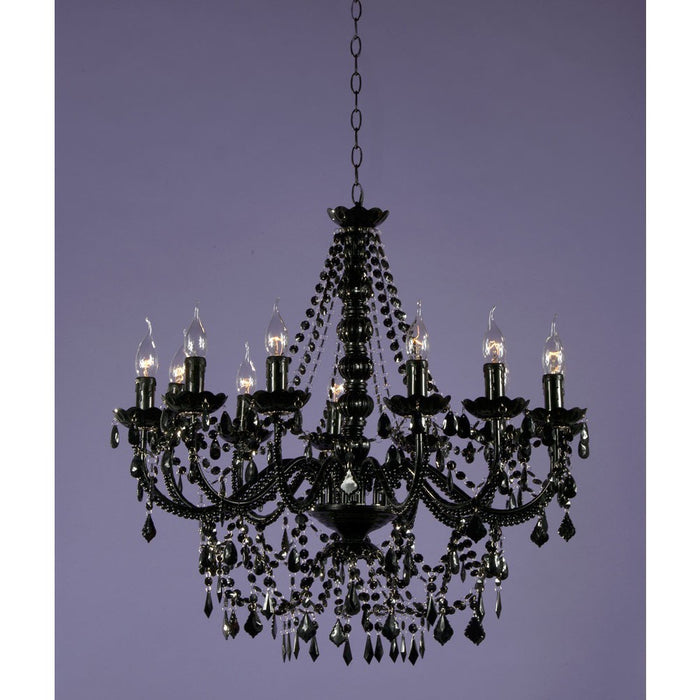 Black Acrylic Chandelier 12 Arm