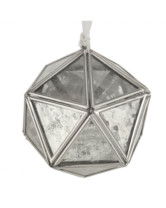 Nickel & Mirror Geometric Hanging Decoration