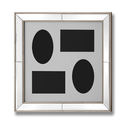 Mirrored Bordered Multi-Photo Frame 4x6