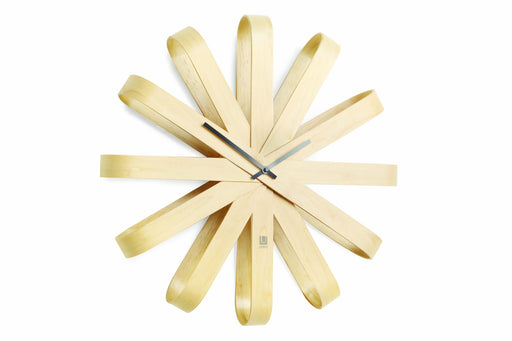 Ribbon wood Clock
