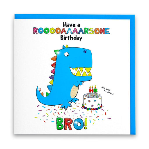 Roarsome Birthday Bro Dinosaur Card