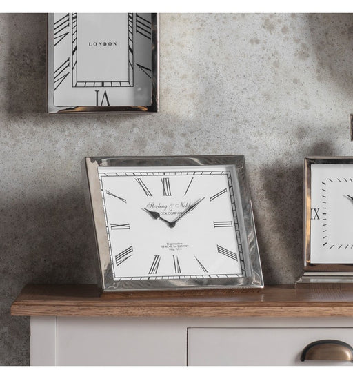 Rochford Mantel Clock Polished Nickel