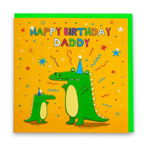 Happy Birthday Daddy Crocodile Card