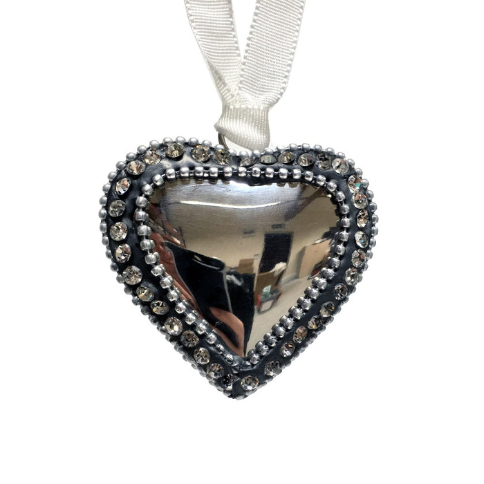 Bling Heart Hanging Decoration - Large