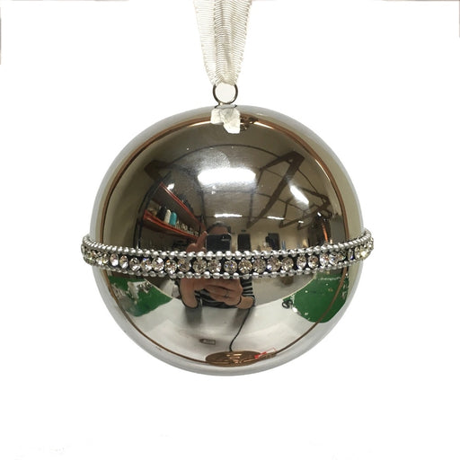 Large Silver Bling Ball Hanging Decoration
