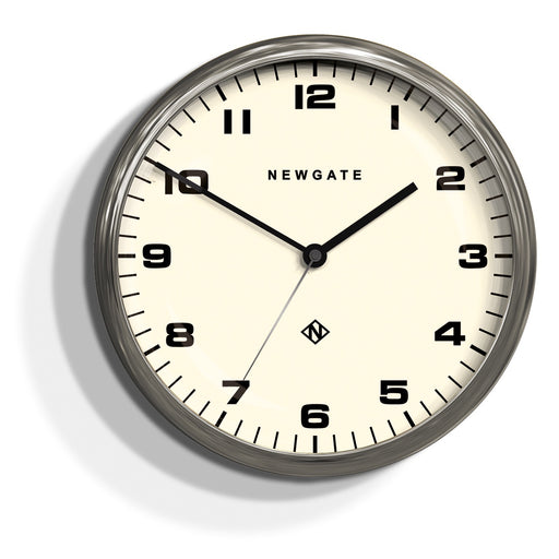 NEWGATE - Chrysler Clock Burnished Steel