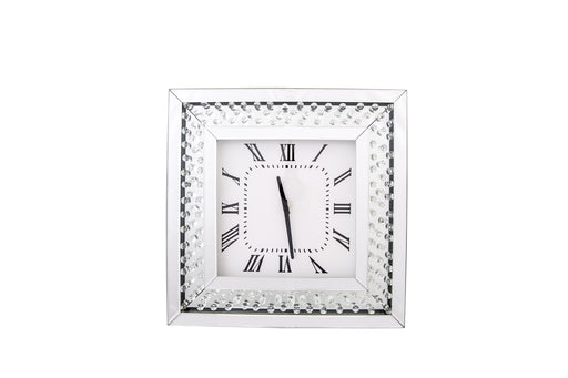 Clear Floating Crystal Wall Clock