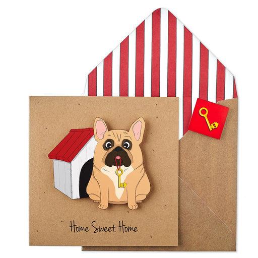 New Home French Bulldog Card