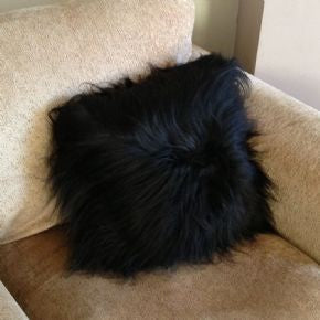 Luxury Black Cushion Black Long Hair