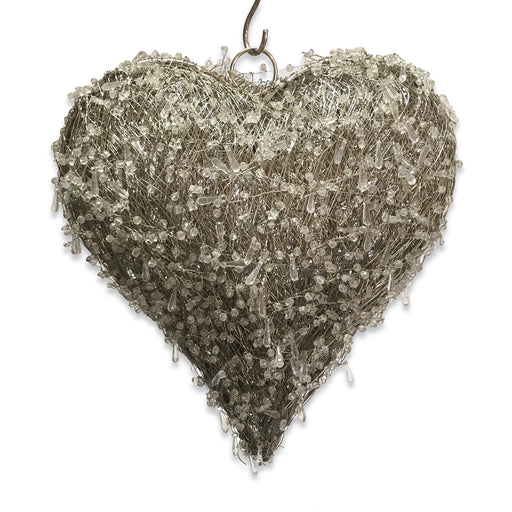 LED Beaded Hanging Heart - Medium