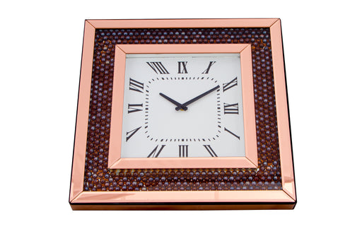 Bronze Mirrored Wall Clock