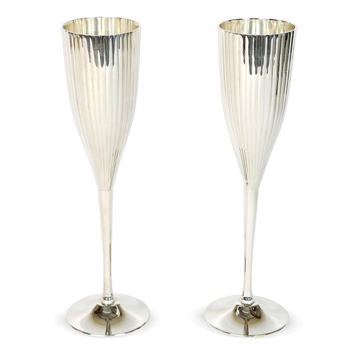 Ribbed Champagne Chalices