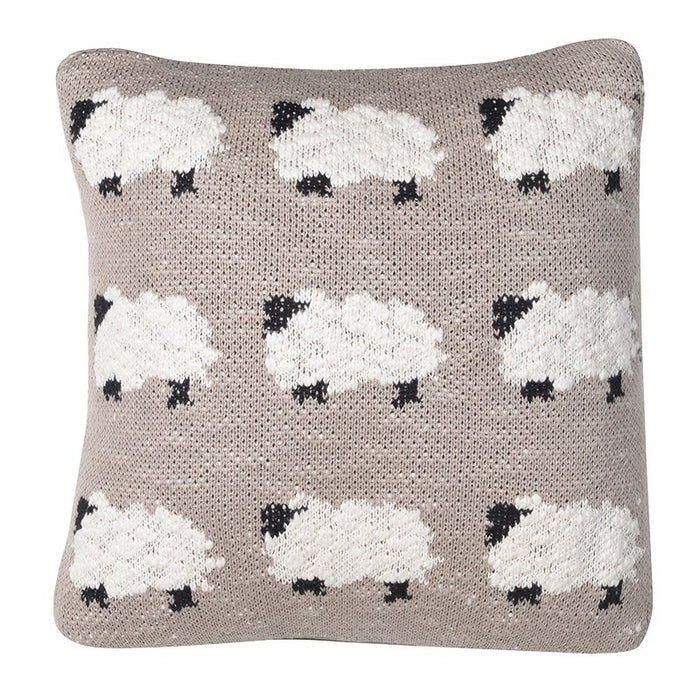 Sheep Knitted Baby Pillow