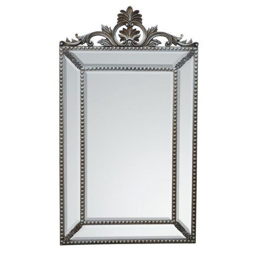 Antique Silver Pin Cushion Mirror