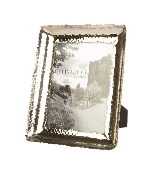 Large Champagne Hammered Photo Frame -6x8""