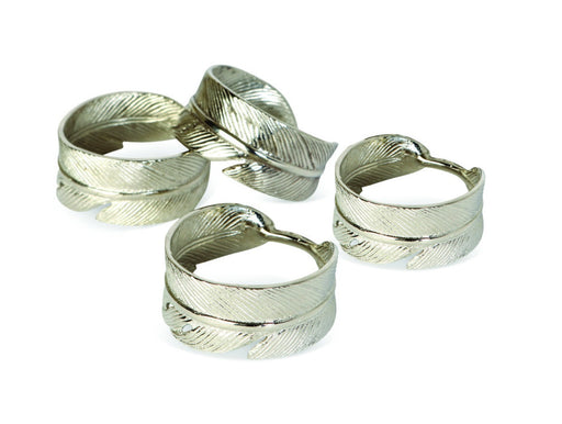 Feather Set Of Four Napkin Rings