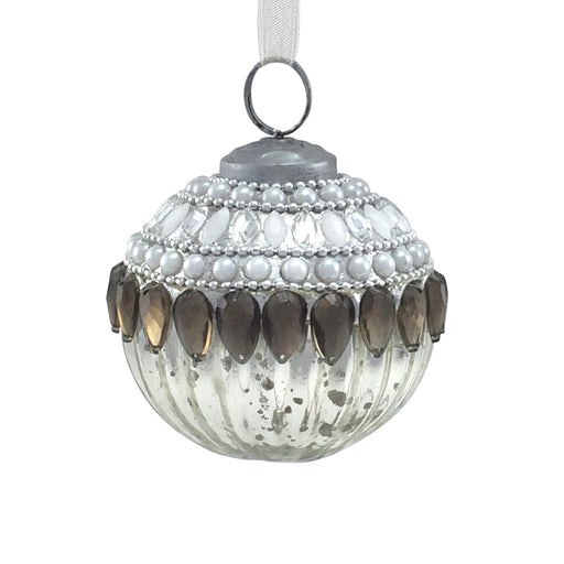 Medium Elaborate Gem & Pearl Encrusted Bauble