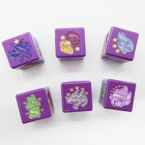 Set of 2 Limited Metal Yugioh Toon Dice