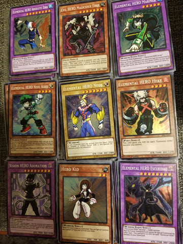 My HERO Academia Trading Cards