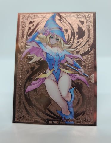 Limited Dark Magician Girl Magi Variant Field Center in Rose Gold
