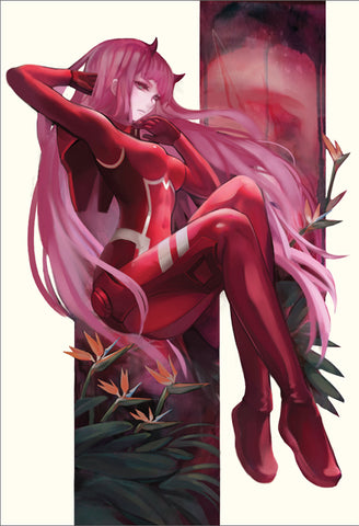 Darling in the Franxx Canvas Scroll Poster Print (13x19)