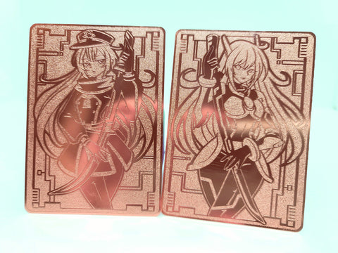 Limited Metal Dual-Sided Sky Striker Raye and Roze Field Center in Rose Gold