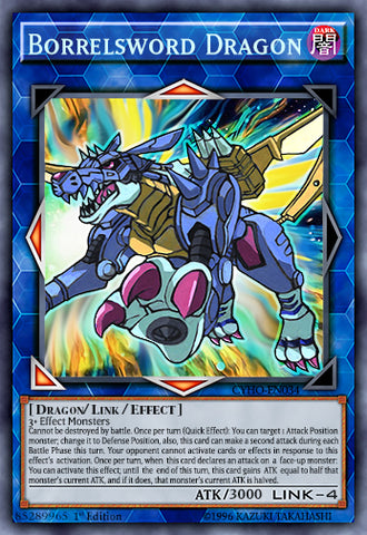 Borrelsword Dragon as Metal Garurumon Orica (Super Rare)