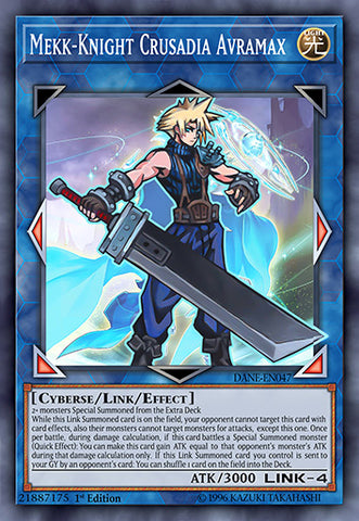 Mekk-Knight Crusadia Avramax as Cloud Strife Orica (Super Rare)
