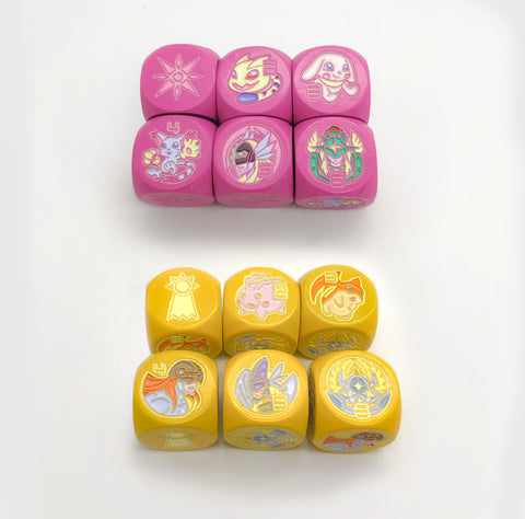 Set of 2 Limited Metal Digimon Light&Hope Dice