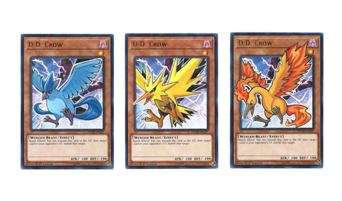 D.D. Crow as Pokemon Legendary Bird Trio - Articuno, Zapdos, Moltres