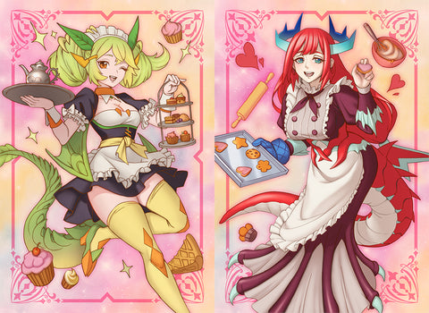 Set of 2 Packs Limited Dragonmaid Parlor and Kitchen Sleeves