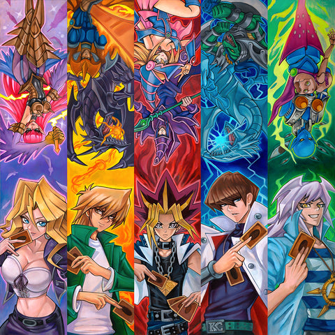 Limited 24x24 OG Duel Monsters Yugioh Canvas Print