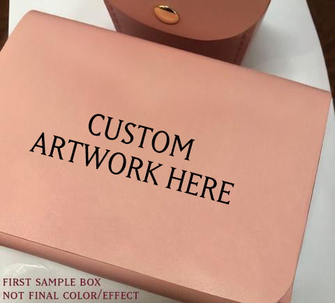 LIMITED CUSTOM ART Full Grain Leather Deck Box Commission